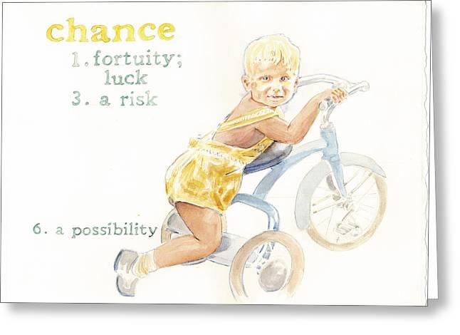 Chance Greeting Card by Janice Crow