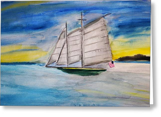 Schooner Greeting Cards - Changing Channels Greeting Card by Stephen Parulski