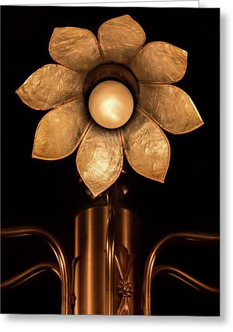 Chandelier Flower Greeting Card by Wim Lanclus
