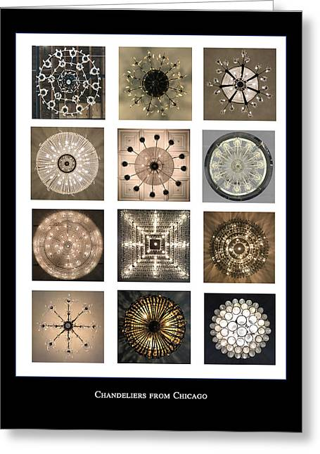 Chandeliers From Chicago Poster Greeting Card