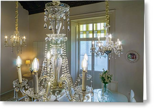 Greeting Card featuring the photograph Chandeliers Transatlantic Company Delegation Cadiz Spain by Pablo Avanzini