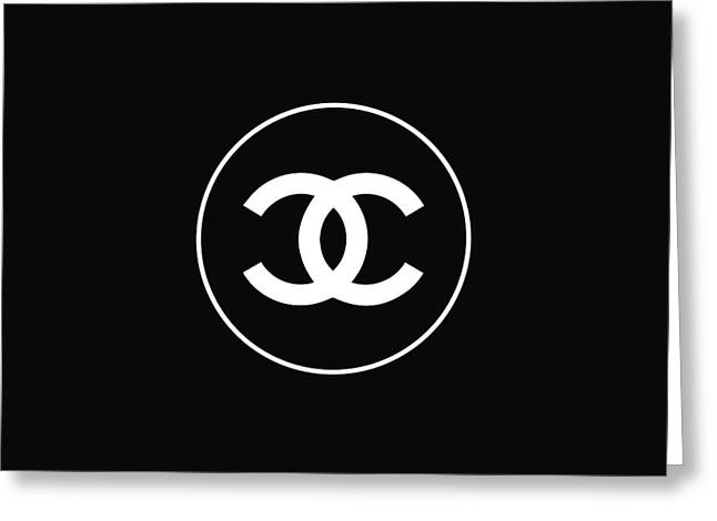 Chanel Black Greeting Card