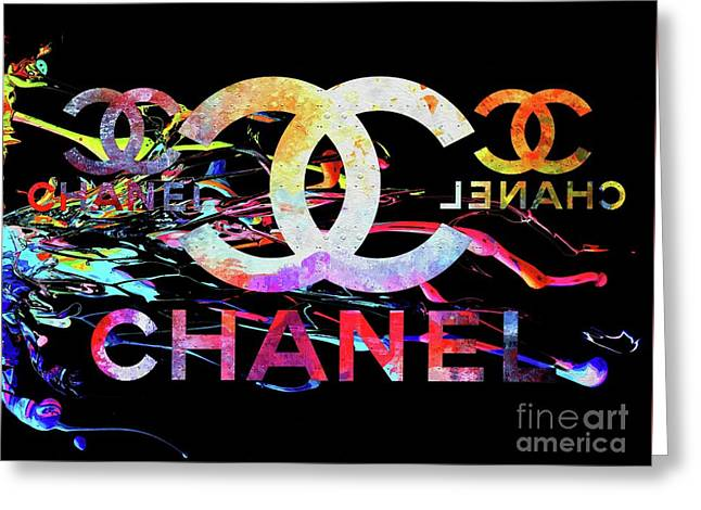 Chanel Black Greeting Card