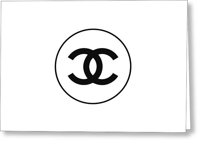 Chanel - Black N White Greeting Card