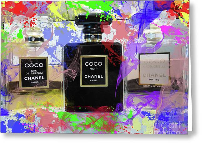Chanel Coco Abstract 3 Greeting Card