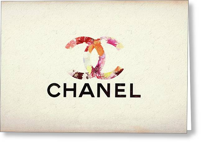 Chanel Floral Texture  Greeting Card