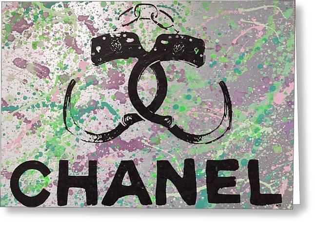 Chanel Handcuffs Greeting Card