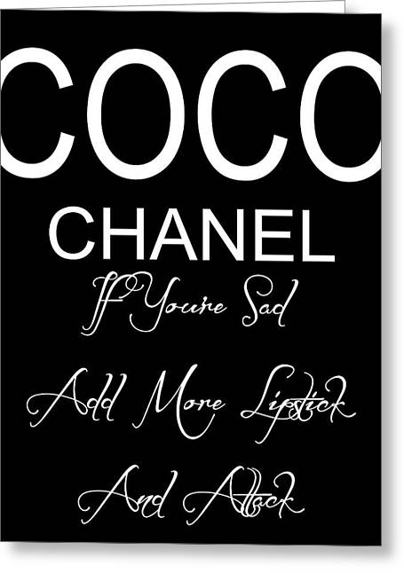 Chanel Lipstick Quote Greeting Card