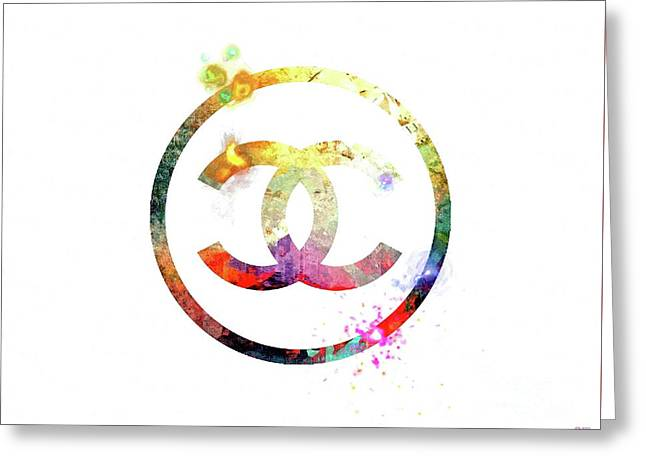 Chanel Logo Greeting Card