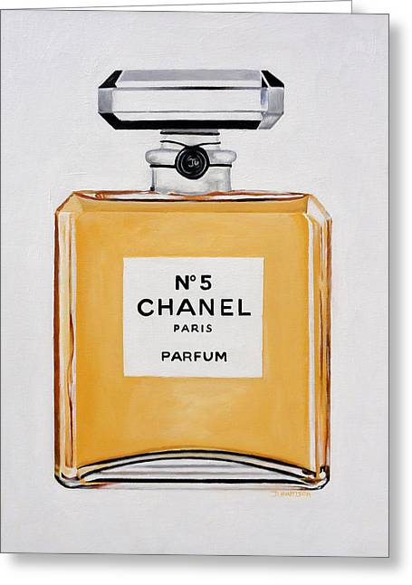 Chanel Me Greeting Card by Denise H Cooperman