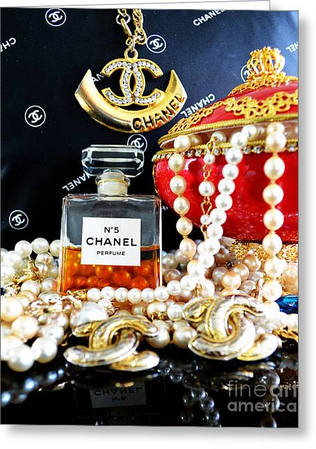 Chanel No 5 And Egg 2 Greeting Card by To-Tam Gerwe