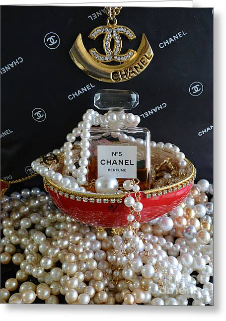 Chanel No 5 And Egg Greeting Card by To-Tam Gerwe