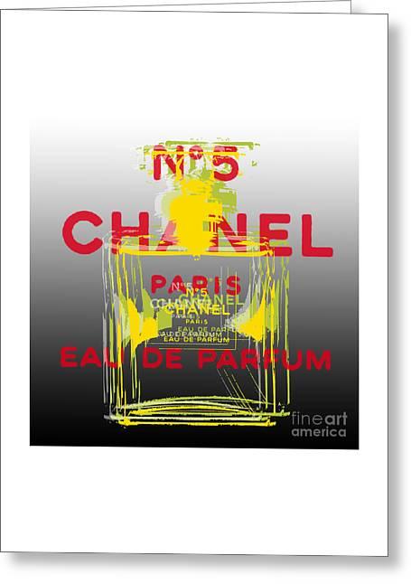 Chanel  No. 5 Pop Art - #1 Greeting Card
