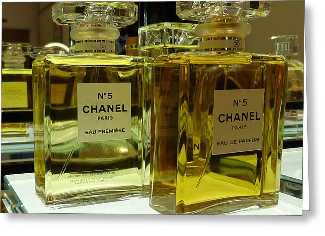 Chanel No 5  Greeting Card by To-Tam Gerwe