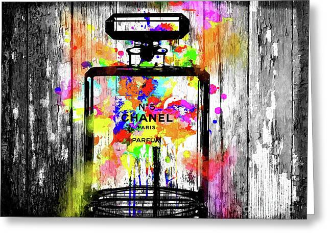 Chanel No. 5  Wooden Greeting Card by Daniel Janda