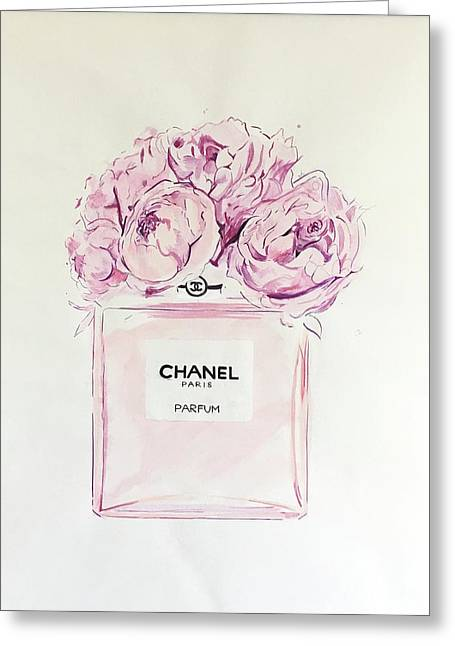 Chanel Peonies Greeting Card