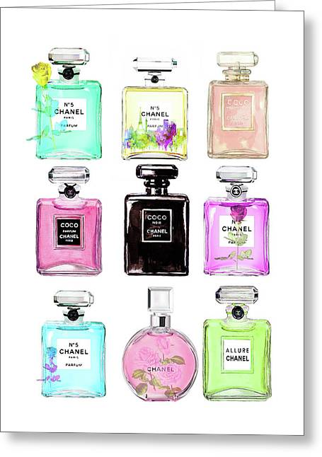 Chanel Perfume Set 9er Greeting Card
