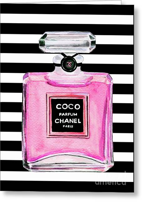 Chanel Pink Perfume 1 Greeting Card