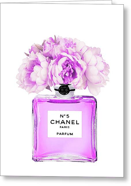 Chanel Print Chanel Poster Chanel Peony Flower Greeting Card