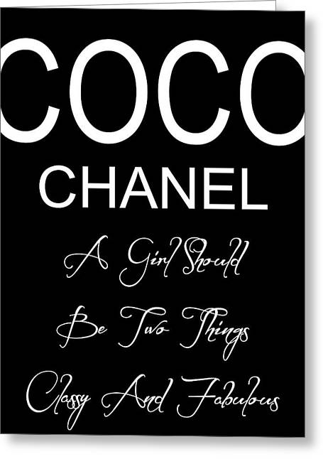 Chanel Quote 2 Greeting Card