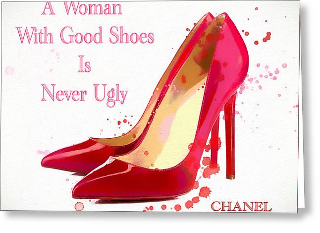 Chanel Shoe Quote  Greeting Card