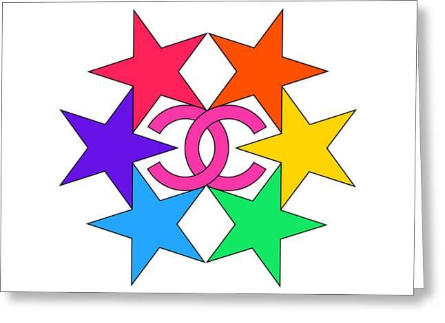 Chanel Stars-15 Greeting Card
