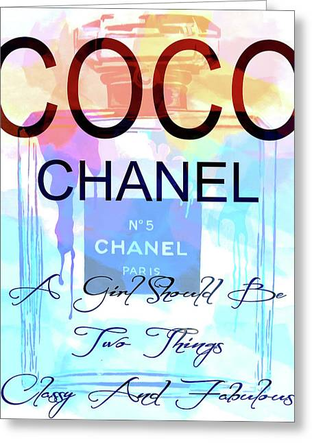 Chanel Watercolor Quote Greeting Card