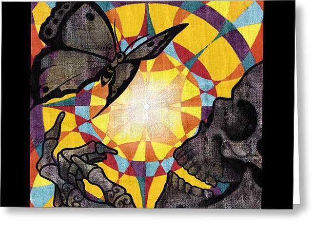 Change Mandala Greeting Card by Deadcharming Art