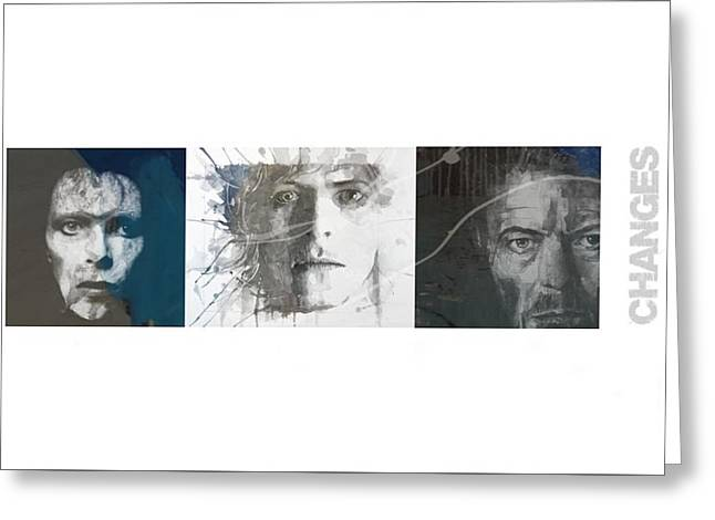 Changes David Bowie Triptych Greeting Card