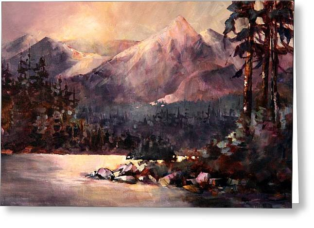 Changing Light On The Bulkley River Greeting Card