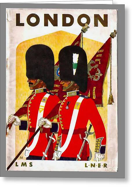 Changing The Guard London - 1937 Greeting Card