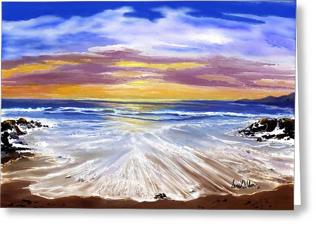 Greeting Card featuring the painting Changing Tide by Sena Wilson