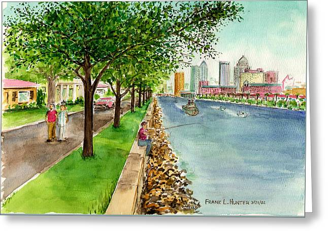 Channel Drive Tampa Florida Greeting Card by Frank Hunter