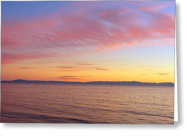Channel Islands And Pacific At Sunset Greeting Card by Panoramic Images