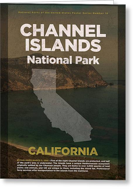 Channel Islands National Park In California Travel Poster Series Of National Parks Number 10 Greeting Card by Design Turnpike