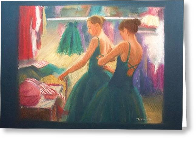Channeling Degas Greeting Card by Diane Caudle