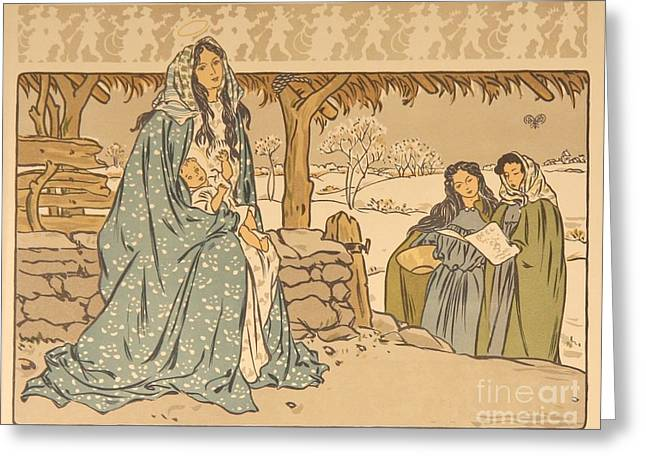 Chant De Noel Greeting Card by Celestial Images