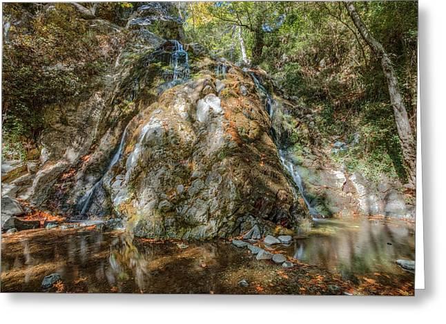 Chantara Waterfalls - Cyprus Greeting Card