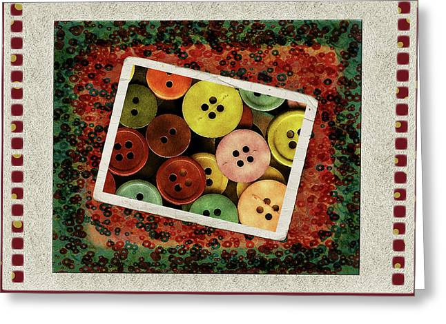 Olive Green Greeting Cards - Chaos Greeting Card by Bonnie Bruno