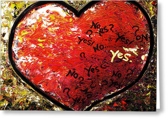 Chaos In Heart Greeting Card