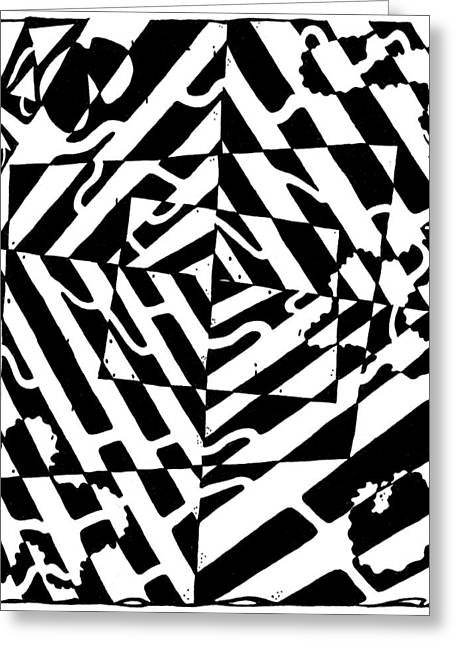 Chaos Maze Optical Illusion Greeting Card by Yonatan Frimer Maze Artist