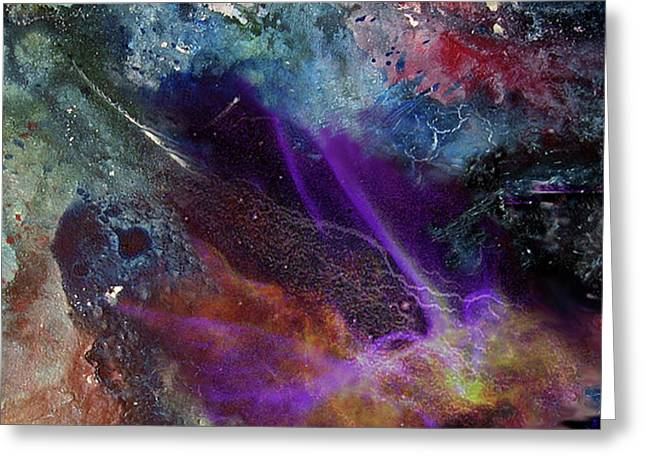 Chaos Of Creation Greeting Card by Sevan Thometz