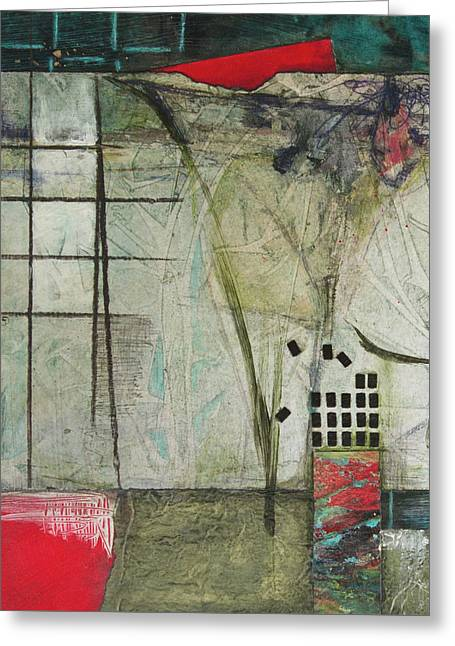 Chaotic Comforts Greeting Card by Laura Lein-Svencner