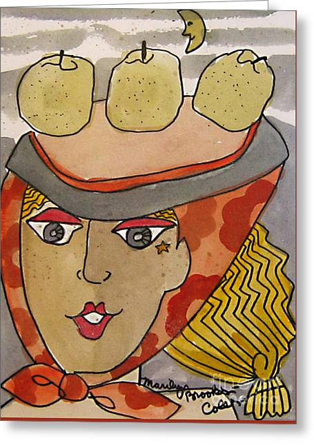 Chapeau Pommes Greeting Card