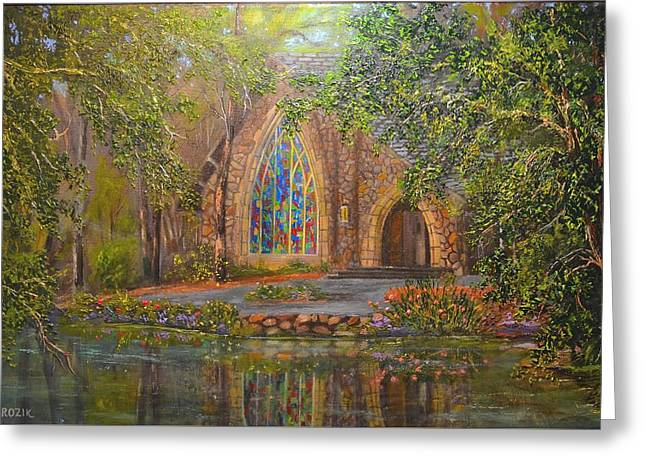 Chapel At Callaway Greeting Card by Michael Mrozik