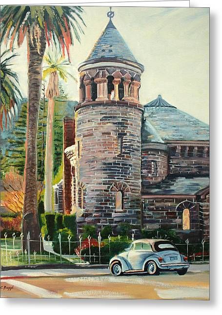 Chapel Bug Greeting Card by Colleen Proppe