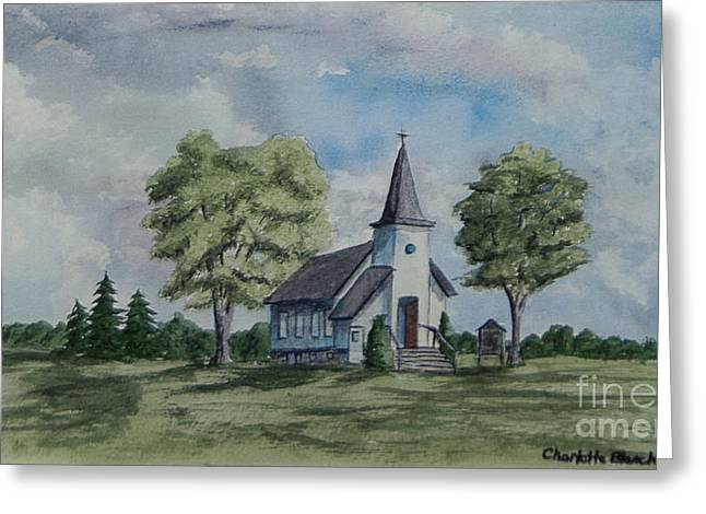 Church Painter Greeting Cards - Chapel In Summer Greeting Card by Charlotte Blanchard
