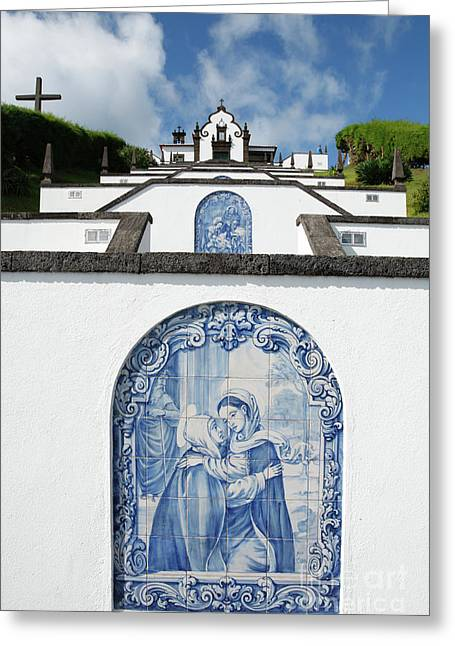 Chapel In The Azores Greeting Card by Gaspar Avila