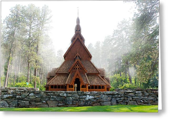 Chapel In The Hills Greeting Card by Art Spectrum