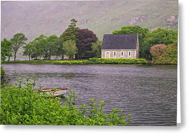 Chapel In The Mist - Gougane Barra - County Cork - Ireland Greeting Card by Tony Crehan